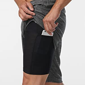 rgear mens no limits 2 in 1 shorts