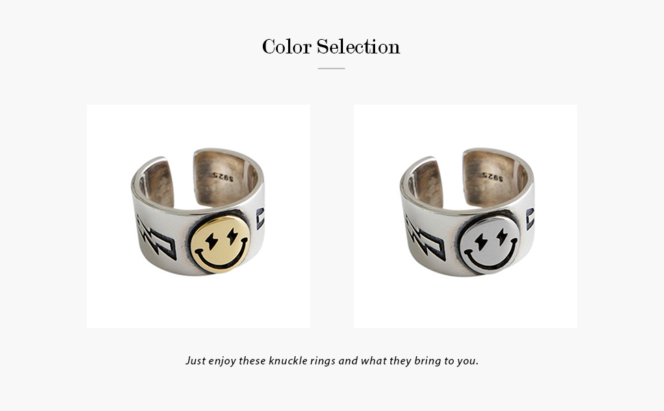 Smiling Face Band Ring