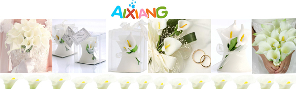 calla lily candles wedding favors birdal shower favors
