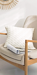 cable knit throw pillow covers