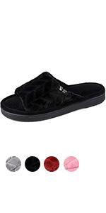 LongBay Women's Open Toe Slippers