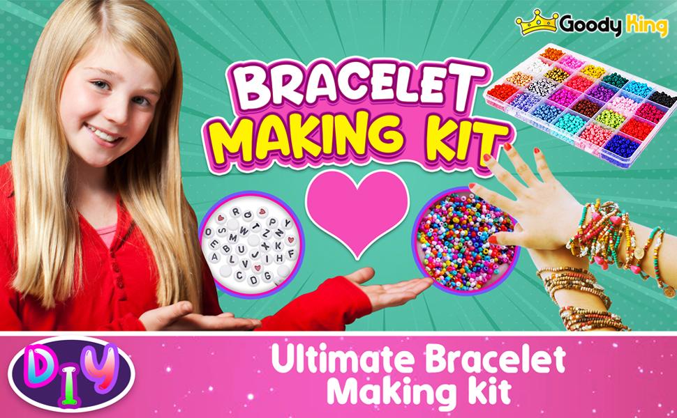 GoodyKing Jewelry Making Kit Beads for Bracelets - Bead Bracelet Craft Kit Set, Glass Pony Seed