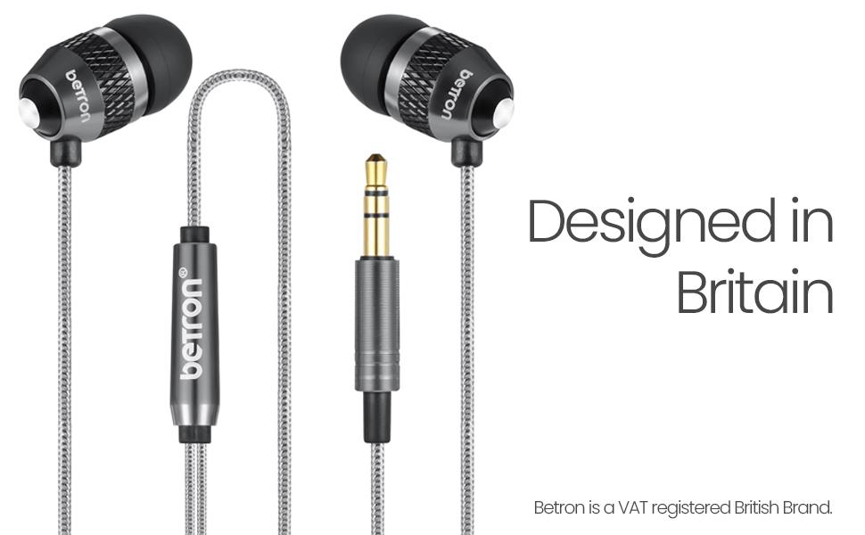 Betron B25  noise isolating earphones heavy bass