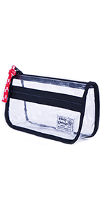 rough enough clear pencil case plastic pencil case clear toiletry bag tsa approved for women travel