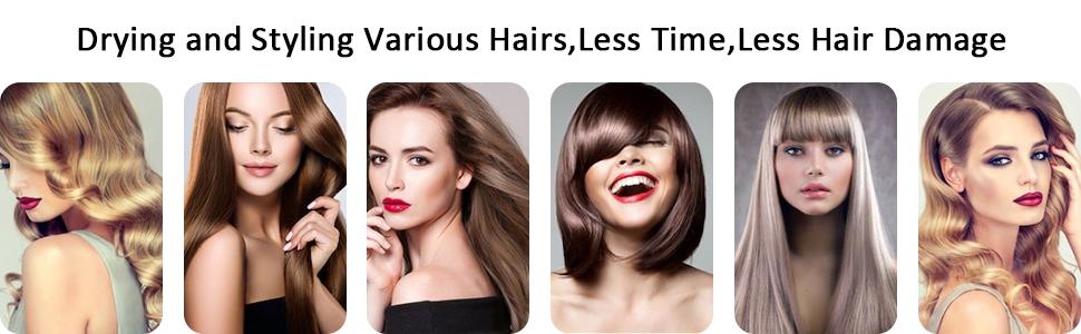 Aibesser hair dryer volumizer, style various hairs