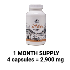 month supply goat milk colostrum grass-fed family farm
