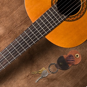 guitar pick accessories cool strap personalized name picture leather magnetic music musicians retro