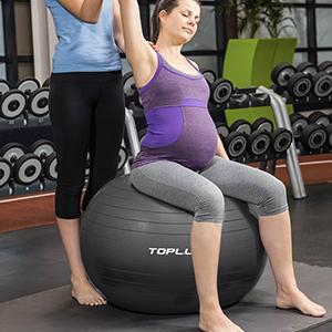Gym Ball Supports 2200lbs Yoga Ball Anti-Burst /& Extra TOPLUS Exercise Ball