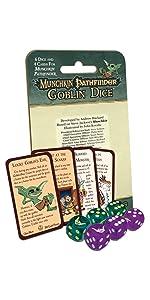 Dice, d6, goblin dice, Munchkin Pathfinder, Munchkin dice, Munchkin, Pathfinder, rpg,