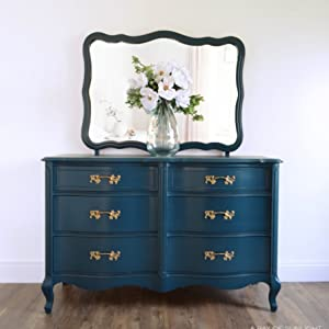 navy blue french provincial dresser painted furniture chalk paint