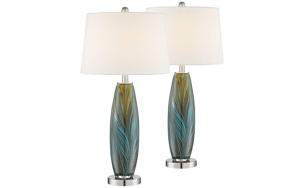 SC Products 4.3 Inches Classic Glass Artwork Light Blue