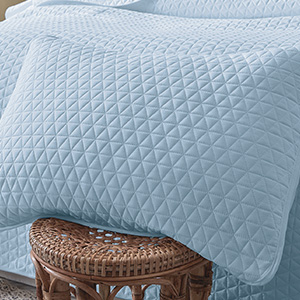 68 x 98 inches Breathable 2 Pieces Baby Blue Quilt Set Twin Size with Sham Soft Microfiber Lightweight Quilt Set Coverlet for All Seasons VEEYOO Twin Quilt Set Bedspread