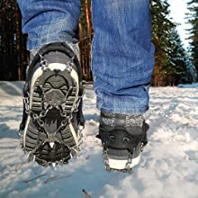 Limm Microspikes being used on Ice and Snow