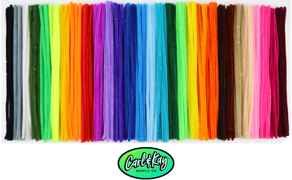 large variety of colorful chenille stem for crafts