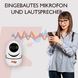 WIFI Kamera, WLAN Kamera, Falke, Überwachung, Mikrofon, Lautsprecher