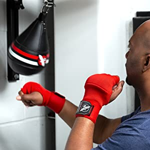 Image of athlete using the speed bag