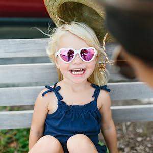 heart shaped polarized sunglasses for kids babies little girls little boys toddlers