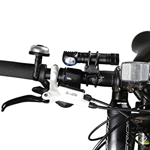 Bike Flashlight Holder Handlebar Universal Silicone Bicycle Mount Suitable for 22-40mm Diameter Flashlight Bike Lightining Mount Accessories Black