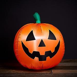 3 foot halloween inflatable,blow up pumpkin,blow up halloween decoration,halloween yard decor