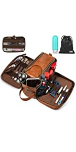 toiletry dopp kit bag travel cosmetics makeup camping hiking storage shaving women men