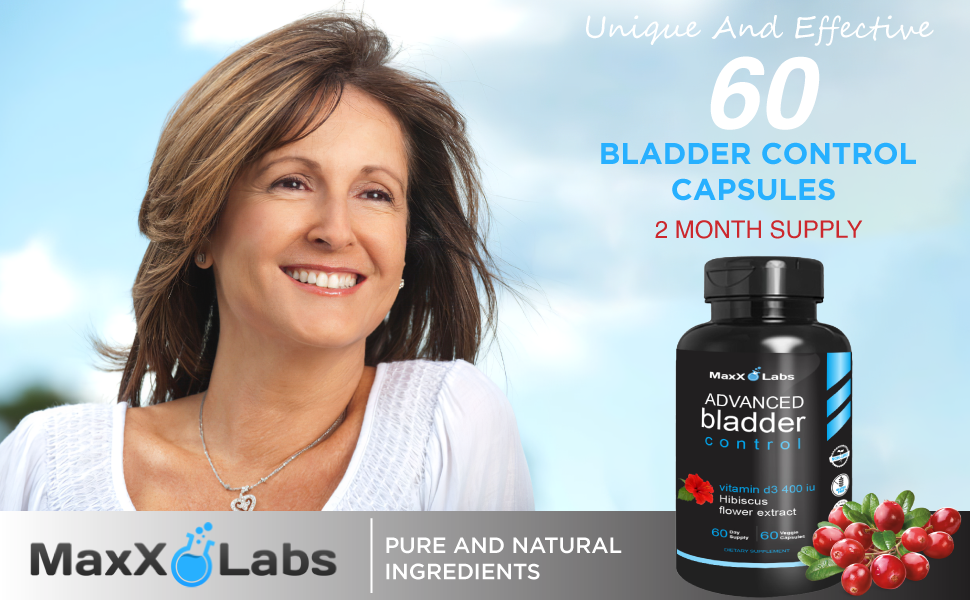 Advanced Bladder Control and UTI - New - Potent Blend of Cranberry Extract,Vitamin D3