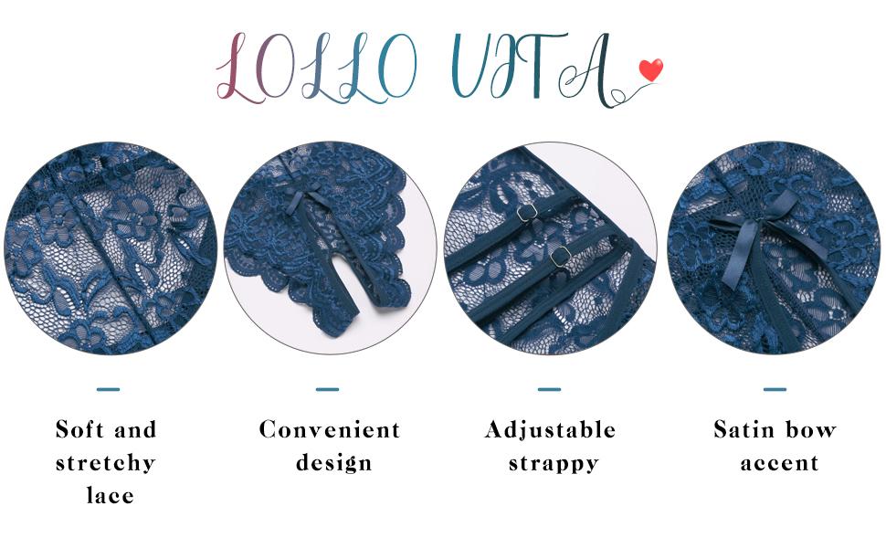 Teddy lingerie for women black lace bodysuit deals Santa Lingerie Set 2021 lace lingerie for women
