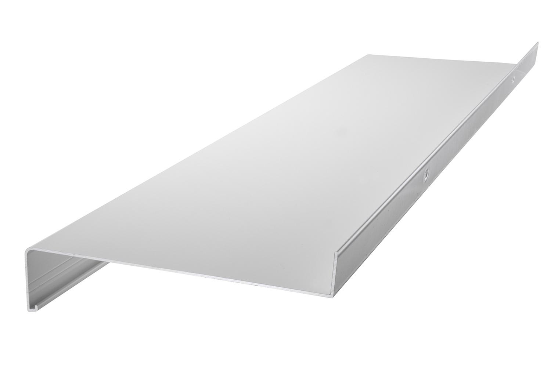 Ohne Seitenteile Fensterbank Silber 1600 mm Lang Fensterbrett 110 mm Tief