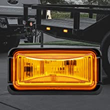 """2.5"""" Clearance Marker Amber Light"""