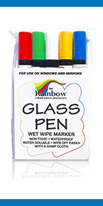 Glass Pen Paint Marker: Glass Writing Pens and Painting Markers with Washable, Erasable Ink Windows