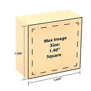 Large Square Branding Sizes, Large Square Brand Size, Branding Sizing, Large Square Makers Mark