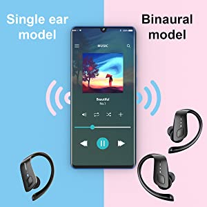 576  Wireless Earbuds, HolyHigh Bluetooth Earbuds 5.0 ET1 Wireless Headphones IPX7 Waterproof Sport Earbuds with Earhooks Stereo Sound Earphones in Ear for Running Workout Gym(Black) 248b9699 5b10 4d54 a89e a041ff61d901