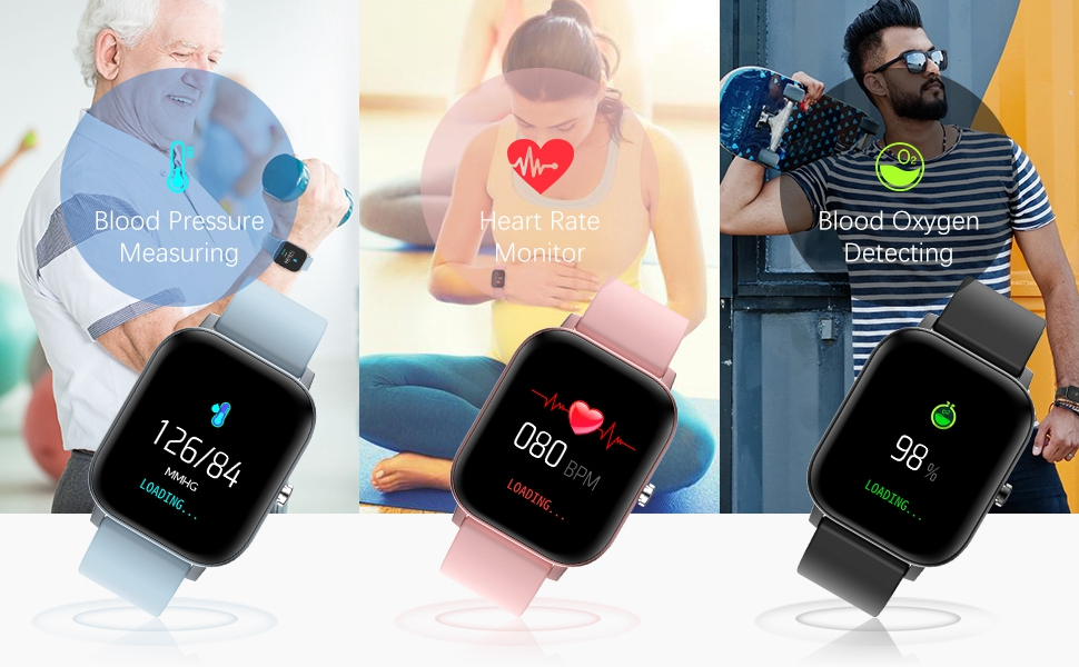 24h continuous heart rate blood pressure monitor, keep you informed your healthy status
