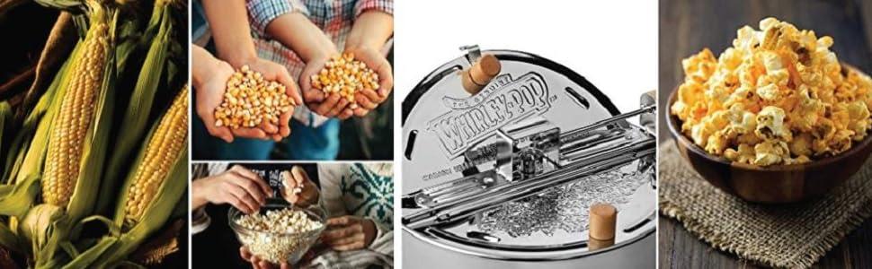 Wabash Valley Farms, Whirley-Pop Popcorn Popper, Corn, Popcorn, Kernels, Seasoning
