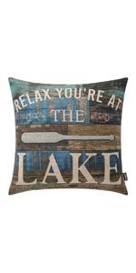 Trendin Relax Lake Pillow Cover