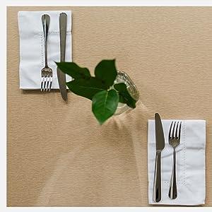 white cotton napkins