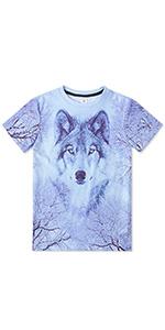 boy wolf short sleeve t shirt