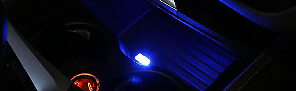 Ultra Blue USB Plug-In Miniature LED Car Interior Ambient Lighting Kit