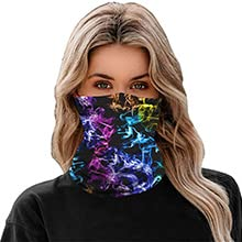 Seamless Neck Gaiter Tube Mask Headwear, Motorcycle Women Men Face Scarf