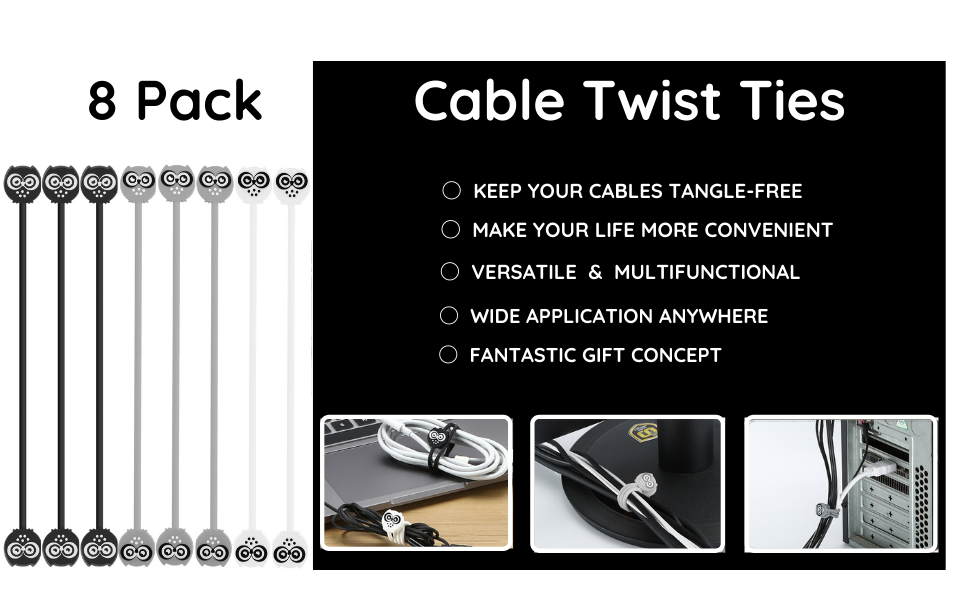 Magnetic Cable Twist Ties