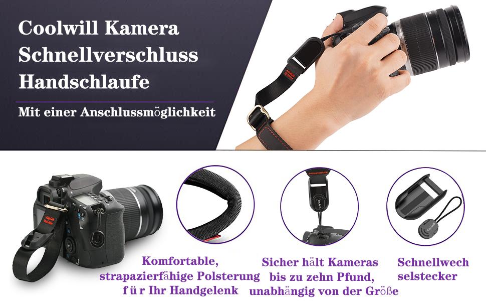 Kamera Handschlaufe Coolwill Magnetischer Handschlaufe Kamera