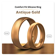 antique gold silicone ring