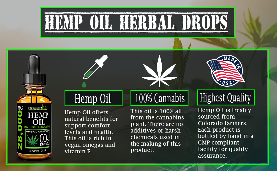 hemp oil dropper