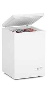 3.5 Cu Ft White Chest Freezer