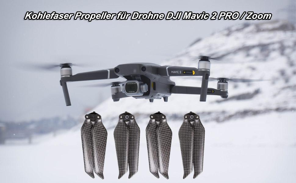 Kohlefaser Propeller für DJI Mavic 2 PRO / Zoom Zubehör Requisiten