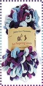 Loom Knitting Pattern Kit For Beginners Hat Set BambooMN Green Hat /& Purple Pompom
