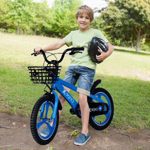 little boys bike with training wheels and basket for 7 year old kids