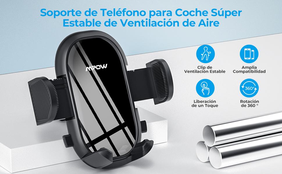 Soporte Móvil Coche Soporte Móvil Télefono para Rejilla del Aire Ventilación para iPhone 12