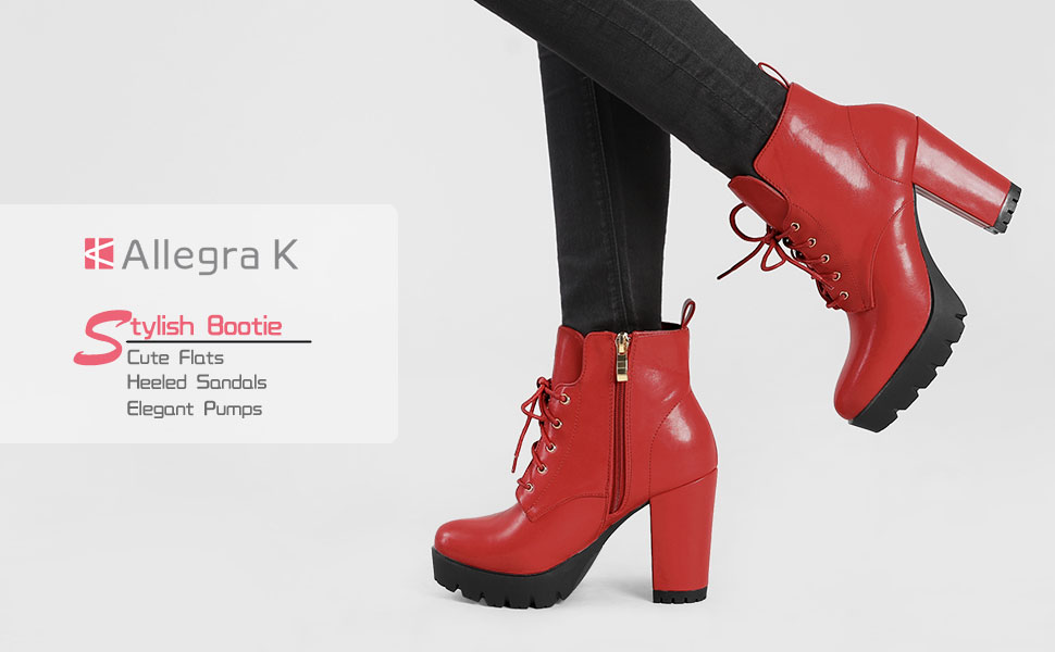 Details about  /Women Fashion Round Toe Lace Up Buckle Strap High Boot Leather Chunky Mid Heel H