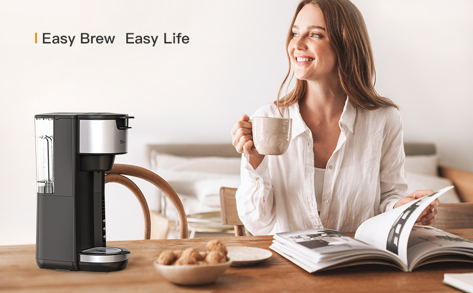 single serve ground coffee maker single serve coffee machine 2 in 1 coffee maker k cup compatible