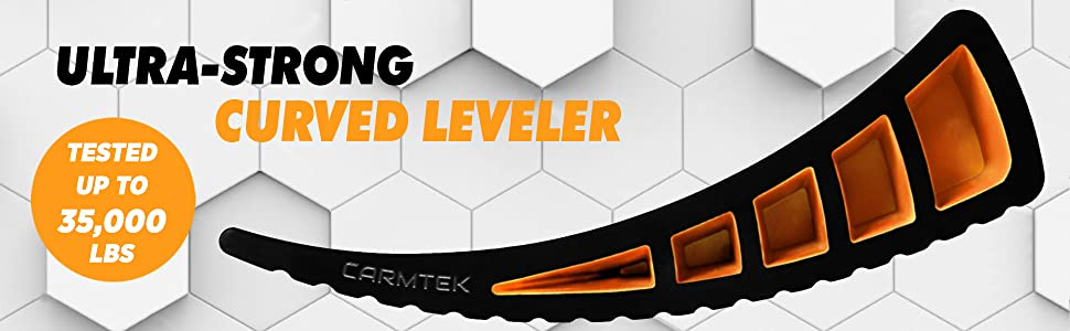 strong curved rv levelers